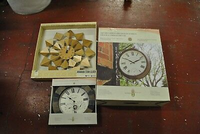 Double Sided Greenwich Station Clock with Stonegate and Star clock Bundle