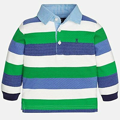 Mayoral 6 Month Boy Long Sleeve Polo Shirt RRP £18 2113