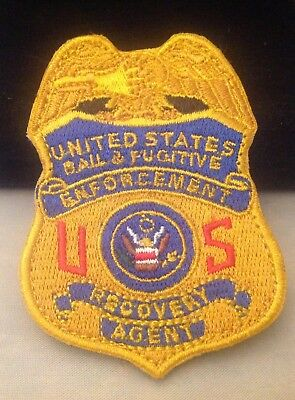 fugitive recovery agent  patch  2 1/2 inch  Hook Backing