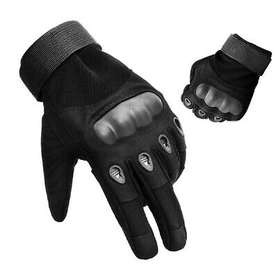 Mens Tactical Gloves Hard Knuckle Adjustable Military Army Brass Knuckles LARGE