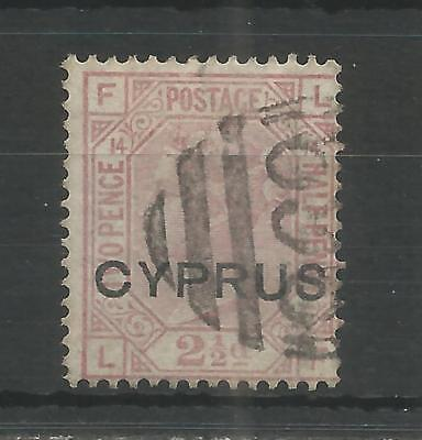 CYPRUS 1880 QUEEN VICTORIA  2.1/2d ROSY MAUVE SG,3 F/USED LOT 181B