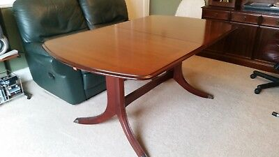 Antique Extendable Mahogany Dining Table; Seats 6-8
