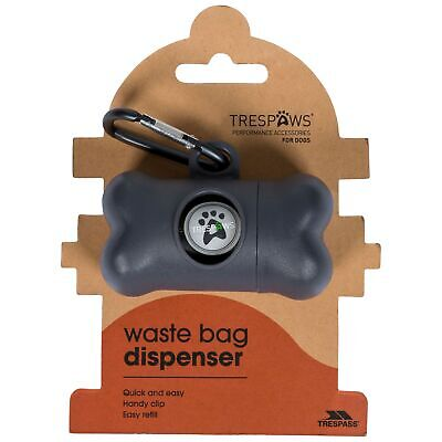Trespass Trespaws Pebbles Dog Waste Bag Dispenser Includes 20 Waste Bags