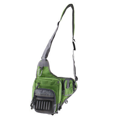 Fly Fishing Tackle Bag Chest Bag Waist Pack Sling Shoulder Pouch Accessories