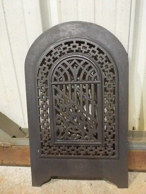 Antique Cast Iron Victorian Fireplace Arched Cover Great Detail