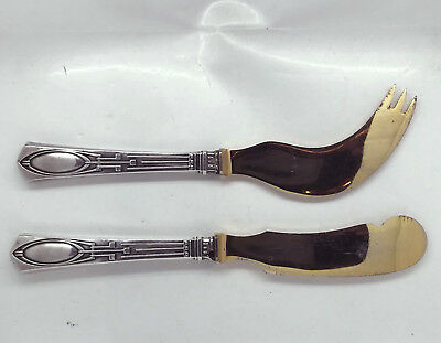ANTIQUE RUSSIAN 84 SILVER CHEESE and BUTTER KNIVES