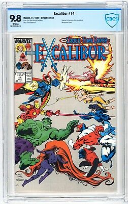 Excalibur #14 CBCS 9.8 Galactus & Impossible Man Appearance