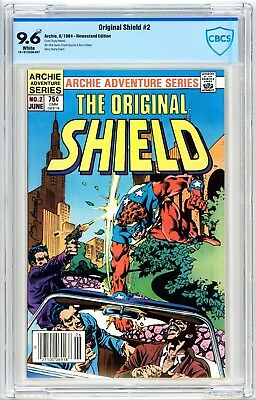Original Shield #2 CBCS 9.6* 1984 Archie Comics