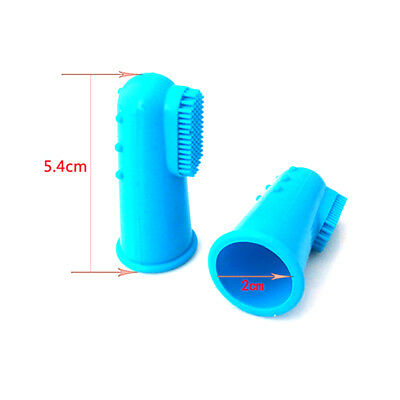 Pet Dog Cat Soft Silicone Finger Toothbrush Teeth Rubber Massager Brush Cleaning