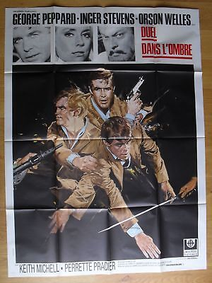 "HOUSE OF CARDS orson welles original french movie poster 63x47"" '68"