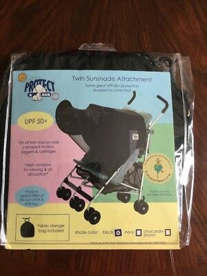 protect-a-bub twin sunshade attachment for carriages