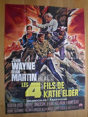 "JOHN WAYNE The Sons of Katie Elder original french movie poster 63""x47"" '65"