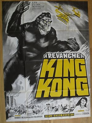 "KING KONG ESCAPES Sci-fi Ishiro Honda original french movie poster 63""x47"" '67"