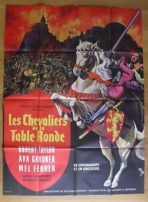 """KNIGHTS OF THE ROUND TABLE Ava Gardner original french movie poster 63""""x47"""" R63"""