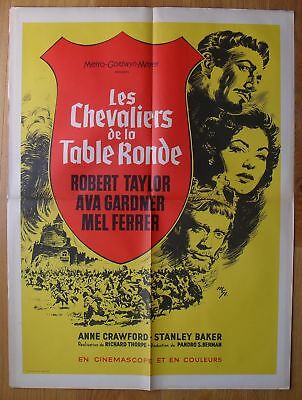 KNIGHTS OF THE ROUND TABLE Ava Gardner original french movie poster R63