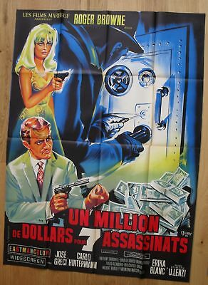 "LAST MAN TO KILL Roger Browne original french movie poster 63""x47"" '66 litho"
