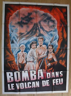 """LOST VOLCANO Marjorie Lord original french movie poster 63""""x47"""" '50 litho"""