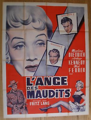 """MARLENE DIETRICH rancho notorious original french movie poster 63x47"""" R50s litho"""