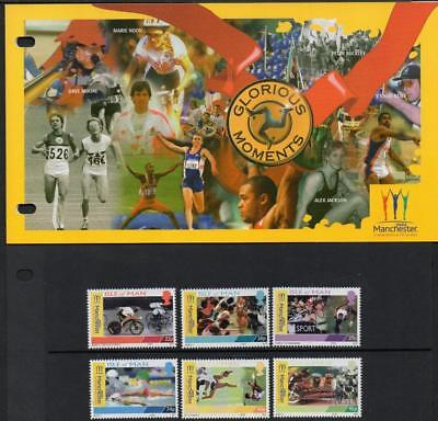 ISLE of MAN MNH 2002 SG976-81 Commonwealth Games Presentation Pack