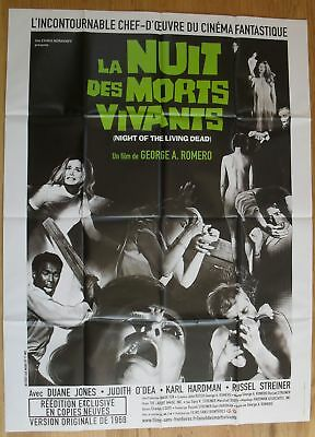 "NIGHT OF THE LIVING DEAD Horror original french movie poster 63""x47"" R"