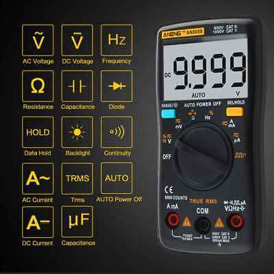 ANENG AN8008 True-RMS Digital Multimeter AC DC Voltage Ammeter Tester 9999Counts