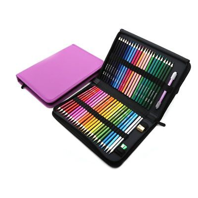 Wood Colored Pencils Set Sketching Drawing Kit Pencil Case Bags Artist Painting