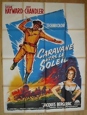 """THUNDER IN THE SUN Hayward original french movie poster 63""""x47"""" '59 litho SOUBIE"""