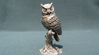 Great Horned Owl Figurine - Pewter - LANCE