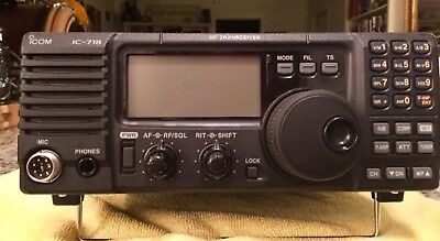 ICOM IC-718 100 Watts HF Amateur Base Transceiver | Orig Box | Mic | Pwr Cord