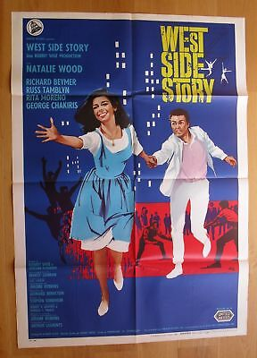 WEST SIDE STORY Natalie Wood original italian one-panel movie poster R66