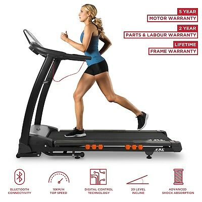 JLL® S400 Folding Electric Treadmill auto Motorised Incline Running Machine