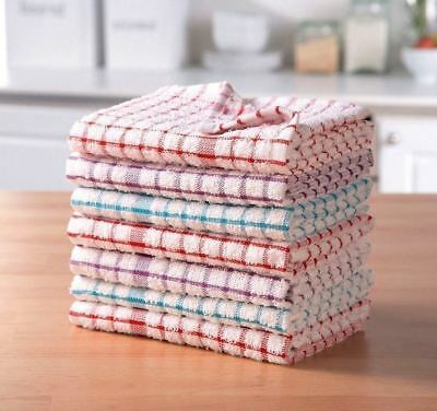 Pack Of 2 Terry 100% Cotton Tea Towels Set Kitchen Dish Cloths Cleaning Drying