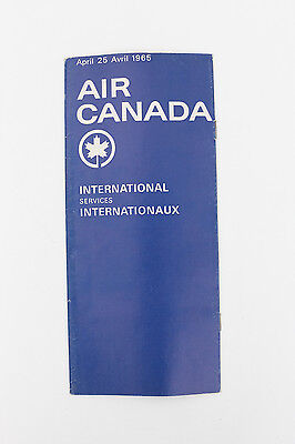 Air Canada International Internationaux Services April Avril 1965