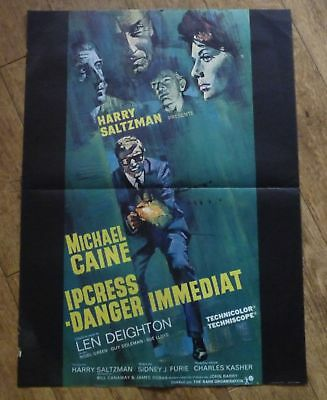 IPCRESS FILE Michael Caine original french movie poster '65