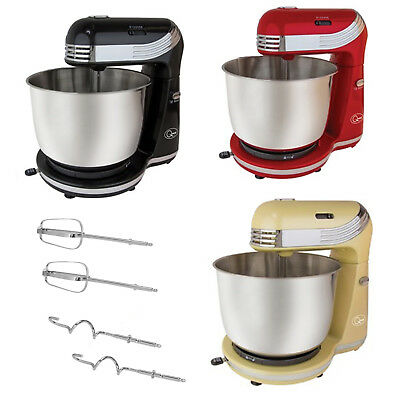 Quest Electric Food Stand Mixer Baking 3L Mixing Bowl Guard 250W