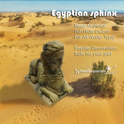 Egyptian Sphinx Ruins Aquarium Ornament Reptile Terrarium Fish Tank Decorations