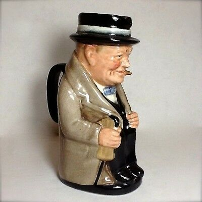 Vintage Royal Doulton Winston Churchill Toby Jug 1950s  5.5 Inches
