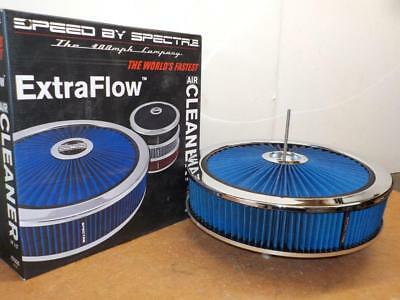 "Spectre 47626 ExtraFlow 14"" x 3"" AIR CLEANER ASSEMBLY><BLUE><BLOWOUT SALE !!"