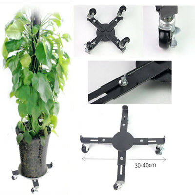 Plant Stand on Wheels | Extendable Large Heavy Duty Plant Pot Holder 30-40cm