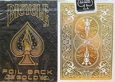 Bicycle Foil Back Gold Playing Cards - Limited Edition - SEALED
