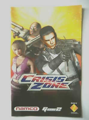 49399 Instruction Booklet - Crisis Zone - Sony Playstation 2 (2004) SCES 52530