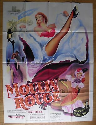"""MOULIN ROUGE Jose Ferrer original french movie poster 63""""x47"""" R50s litho"""