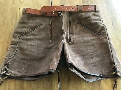 Vintage Woman Lederhosen, authentic, made in Germany, size small