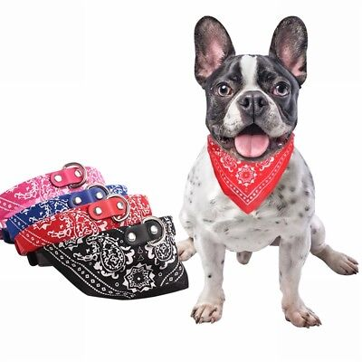 NEW Adjustable Collars Pet Dog Puppy Cat Neck Scarf Bandana Collar Neckerchief