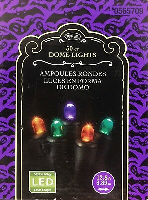 50ctHoliday Living LED Indoor/Outdoor Multicolor Dome Halloween Light string