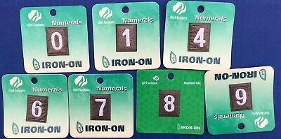 Girl Scout Brownie Uniform Iron On Numeral Numbers