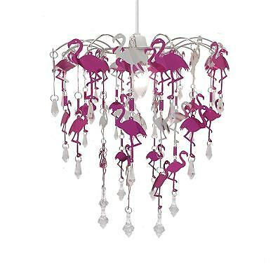 Flamingo Chandelier Pink Lamp Shade Easy Fit Pendant Ceiling Lighting for Kids