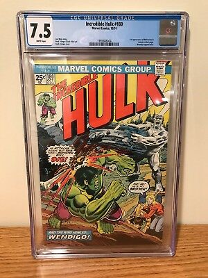 Incredible Hulk 180 - CGC 7.5 (First Wolverine (Cameo))