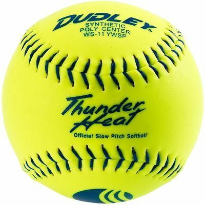 """Dudley 11"""" Thunder Heat USSSA Synthetic Slowpitch Softball"""