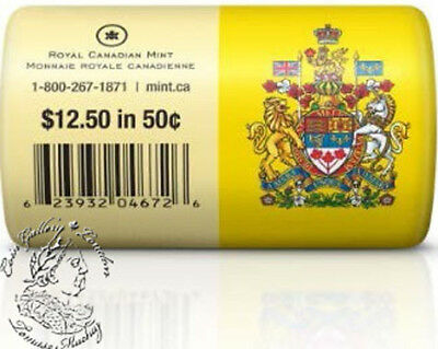 Canada 2013 50 Cent Special Wrap Coin Roll